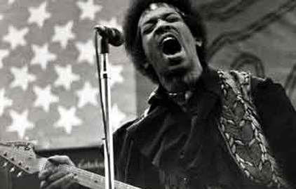When Jimi Hendrix played Sacramento, California in 1079, Craig was 15 and worked as his roadie, security guard, and even painted the flag backdrop.
