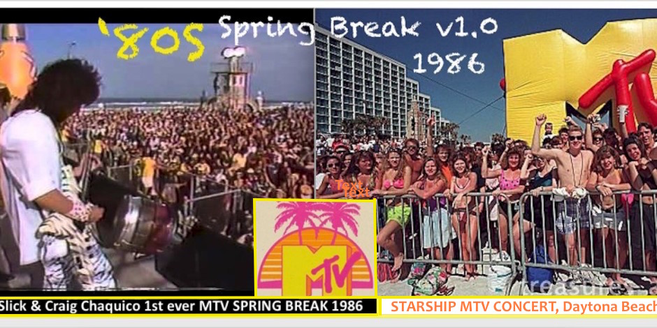 13  -1st MTV Spring Break 1986