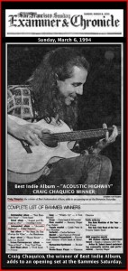 Bammie Winner, Acoustic Highway - Craig Chaquico