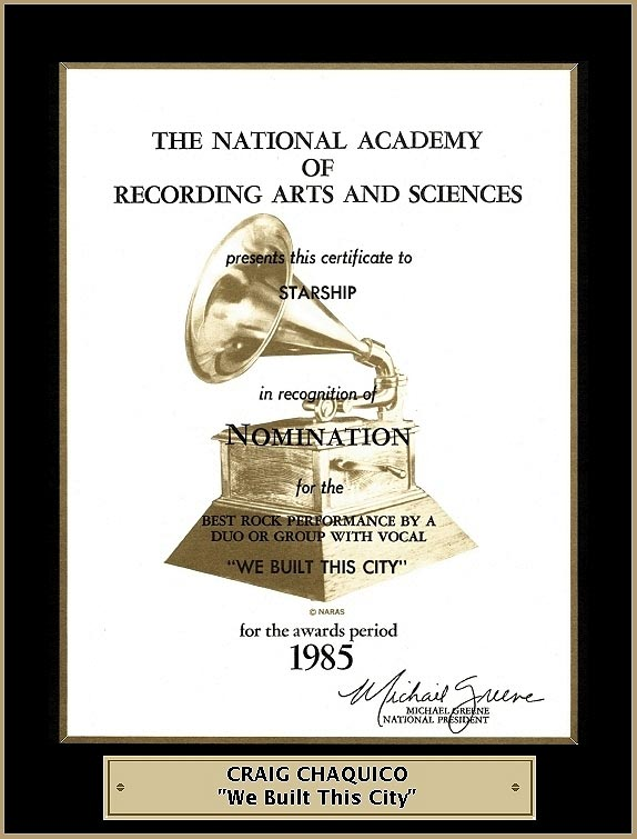 1985-Chaquico-Grammy-We-Built-This-City