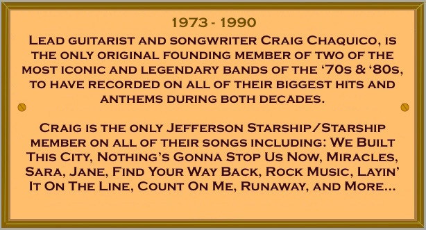 Craig Chaquico Jefferson Starship & Starship Years