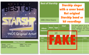 FAKE BEST OF STARSHIP not original artist!