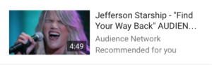 Jefferson Starship Find Your Way Back Audience Netwrok