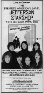 Jefferson Starship introducing Grace Slick